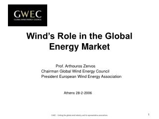 Wind's Role in the Global Energy Market