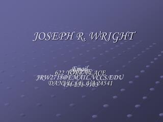JOSEPH R. WRIGHT