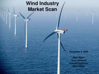 Wind Industry Market Scan