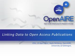Linking Data  to  Open Access Publications