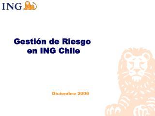 Gestión de Riesgo  en ING Chile
