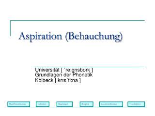 Aspiration (Behauchung)