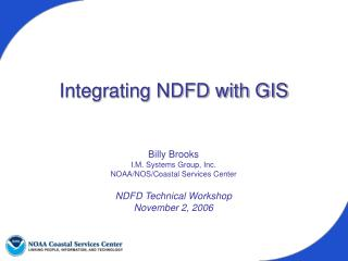 Integrating NDFD with GIS