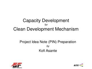 Capacity Development for Clean Development Mechanism