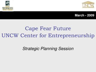 Cape Fear Future UNCW Center for Entrepreneurship