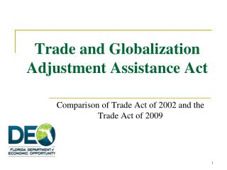 Trade and Globalization Adjustment Assistance Act
