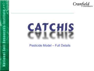 Pesticide Model – Full Details
