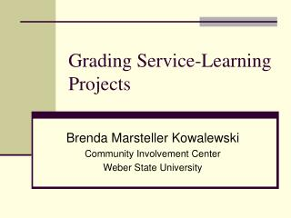 Grading Service-Learning Projects