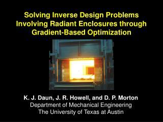 Solving Inverse Design Problems Involving Radiant Enclosures through Gradient-Based Optimization