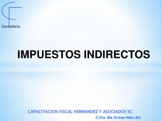 IMPUESTOS INDIRECTOS