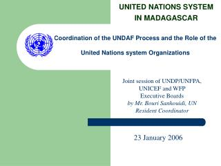 UNITED NATIONS SYSTEM IN MADAGASCAR