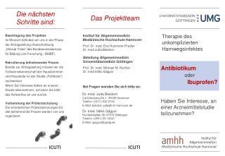 Institut für Allgemeinmedizin Medizinische Hochschule Hannover Prof. Dr. med. Eva Hummers-Pradier