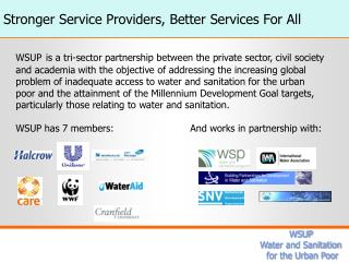 Stronger Service Providers, Better Services For All
