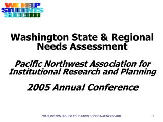 Regional and State Needs Assessment