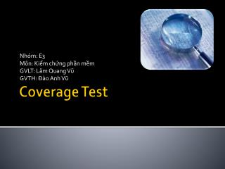 Coverage Test