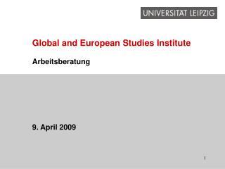 Global and European Studies Institute