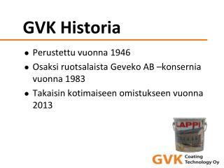 GVK Historia