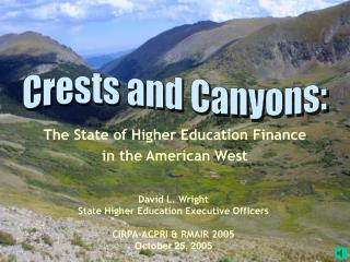 The State of Higher Education Finance  in the American West