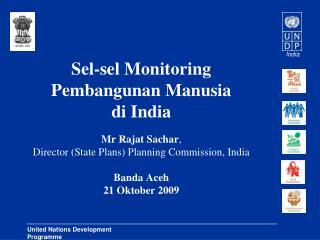 Sel-sel Monitoring Pembangunan Manusia di India