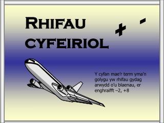 Rhifau cyfeiriol
