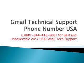 Gmail  Technical Support Phone Number  USA