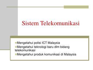 Sistem Telekomunikasi