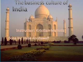 The  business culture  of India