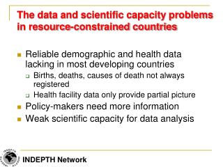 The data and scientific capacity problems in resource-constrained countries
