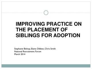 Stephanie Bishop, Elaine Dibben, Chris Smith National Recruitment Forum March 2014