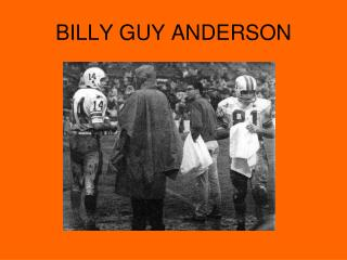 BILLY GUY ANDERSON