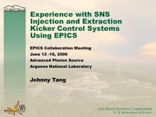Experience with SNS Injection and Extraction Kicker Control Systems Using EPICS
