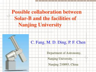 Department of Astronomy,    Nanjing University,      Nanjing 210093, China