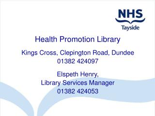 Health Promotion Library
