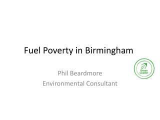 Fuel Poverty in Birmingham