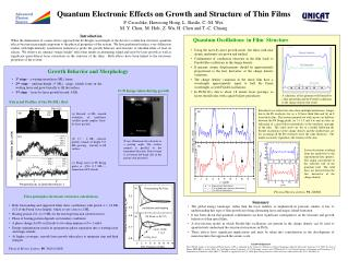 Quantum Electronic Effects on Growth and Structure of Thin Films