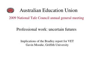 2009 National Tafe Council annual general meeting