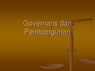 Governans dan Pembangunan