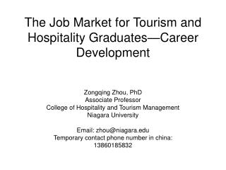 The Job Market for Tourism and Hospitality Graduates Career Development