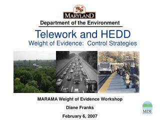 Telework and HEDD Weight of Evidence:  Control Strategies