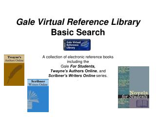 Gale Virtual Reference Library Basic Search