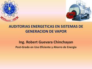 AUDITORIAS ENERGETICAS EN SISTEMAS DE GENERACION DE VAPOR