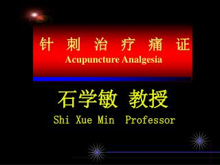 石学敏 教授 Shi Xue Min  Professor