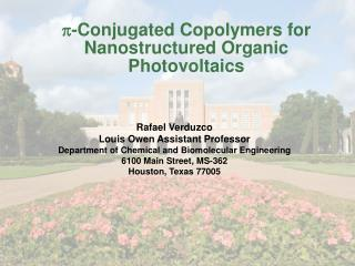 P-Conjugated Copolymers for Nanostructured Organic Photovoltaics