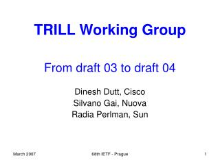 TRILL Working Group