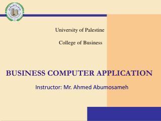 business computer application