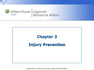 Chapter 3 Injury Prevention