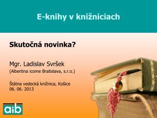 E-knihy v knižniciach