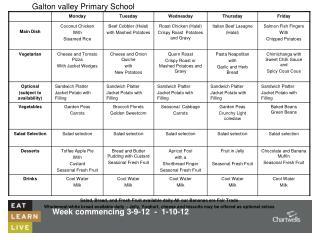 Week commencing 3-9-12  -  1-10-12