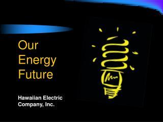 Our  Energy Future Hawaiian Electric Company, Inc.