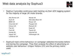 Web data analysis by Sophus3